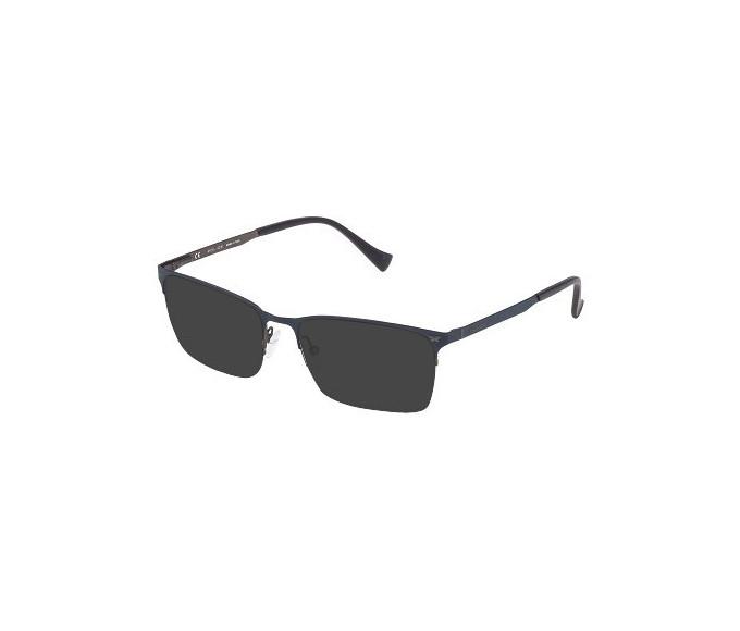 Police VPL288N Sunglasses in Matt Gun Metal/Blue