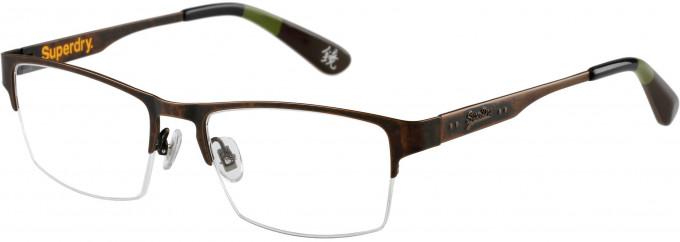 Superdry SDO-JIMMY Glasses in Matt Brown Antique