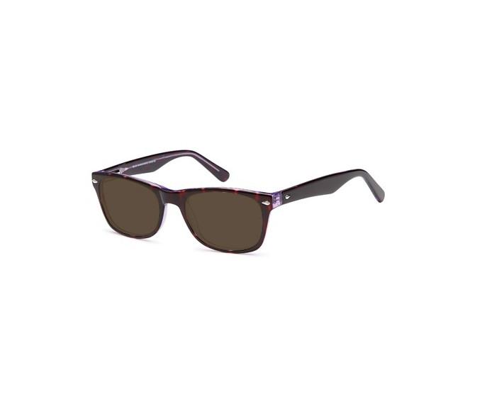 SFE 8917 sunglasses in havana/purple