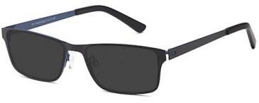 SFE-9492 sunglasses in Black/Blue