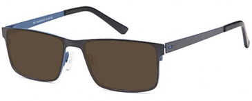 SFE-9513 sunglasses in Black/Blue