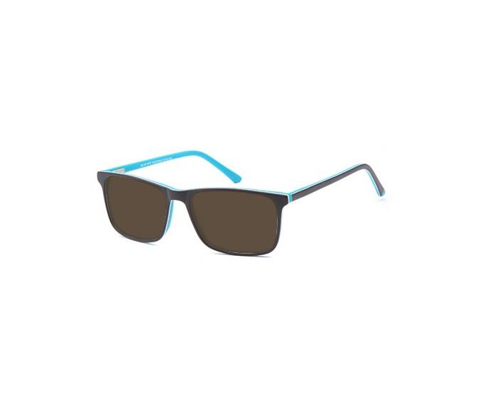 SFE-9555 sunglasses in Matt Black/Blue