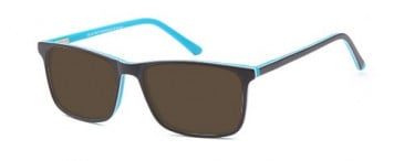 SFE-9555 sunglasses in Matt Black/Blue