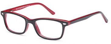 BMX BMX67 kids glasses in Black/Red