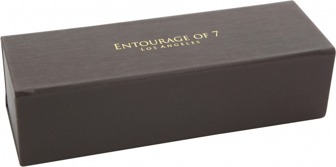 Entourage of 7 Glasses Case in Brown