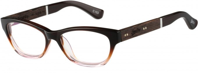 Superdry SDO-HANA Glasses in Brown/Blush