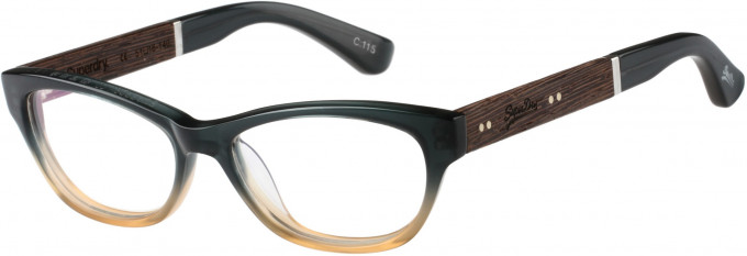 Superdry SDO-HANA Glasses in Green/Amber