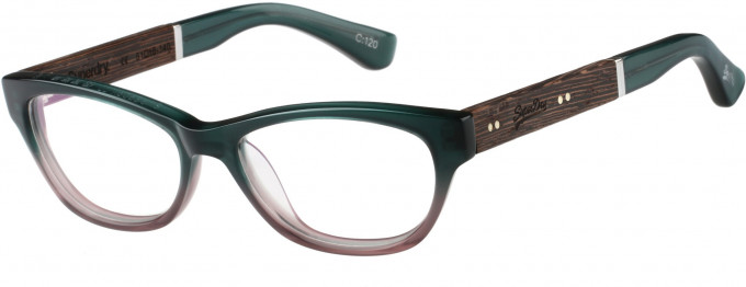 Superdry SDO-HANA Glasses in Green/Lilac