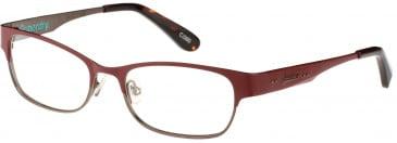 Superdry SDO-ONWA Glasses in Painted Matte Burgundy/Tortoiseshell