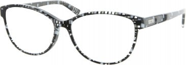 Furla VU4995 glasses in Black/White/Clear