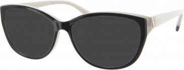 Furla VFU003 sunglasses in Black/Cream