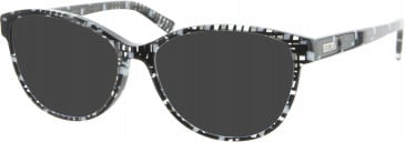 Furla VU4995 sunglasses in Black/White/Clear