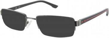 Fila VF9686 sunglasses in Gunmetal