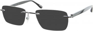 Dunhill London VDH027 sunglasses in Gunmetal