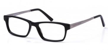 Crosshatch Plastic Presciption Glasses in Black