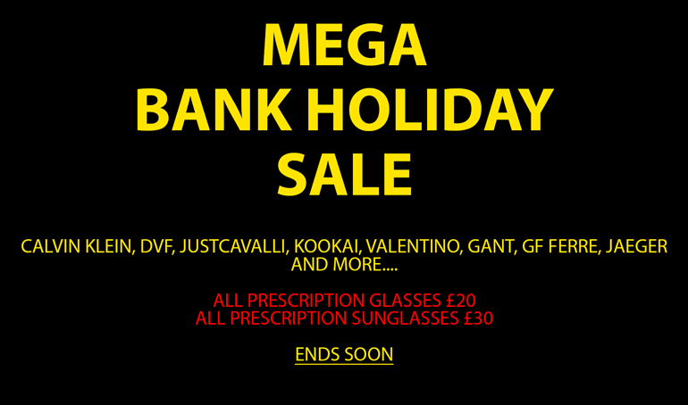 Bank Holiday Mega Sale